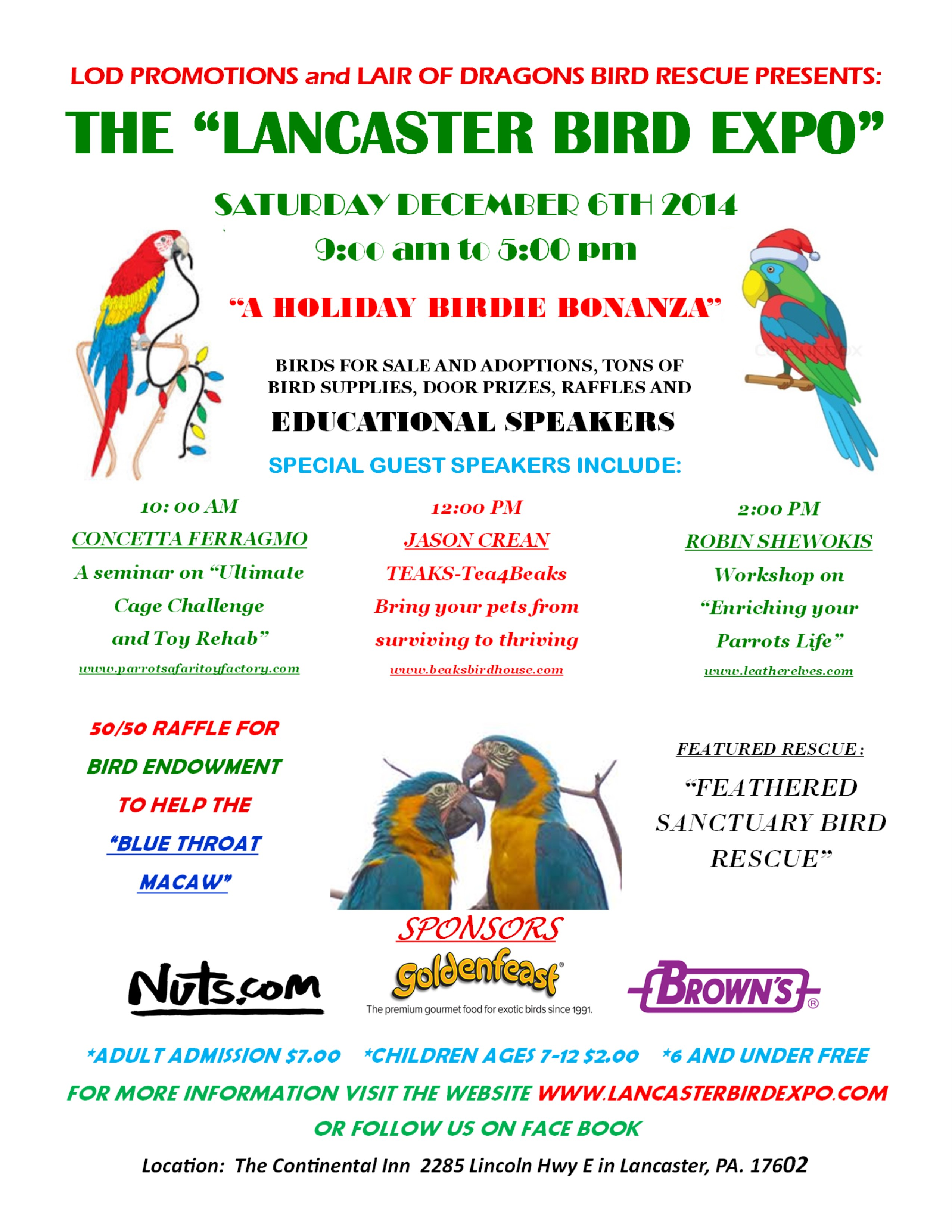 Lancaster Bird Expo – December 6, 2014 | The Real Macaw